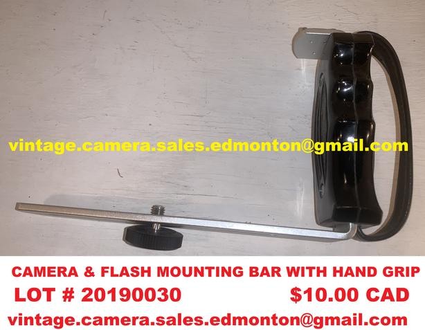 Camera & Flash Mounting Bar With Hand Grip