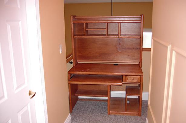 solid wood student computer  desk