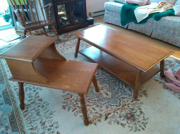 Coffee Table & End Table Pair