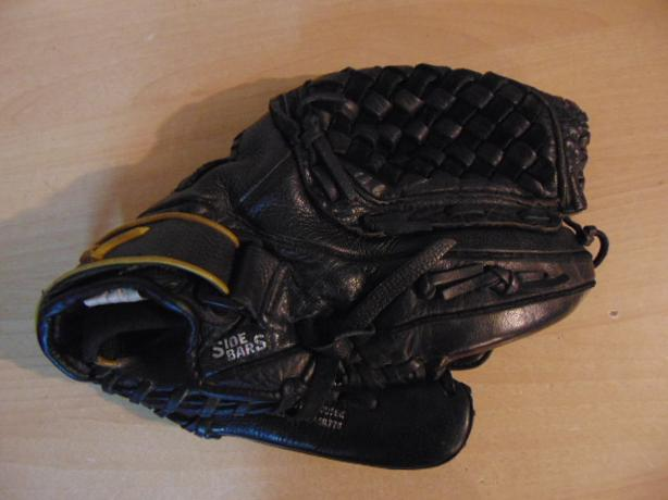 Baseball Glove Adult Size 12.5 inch Mizuno Leather Black Fits on LEFT hand