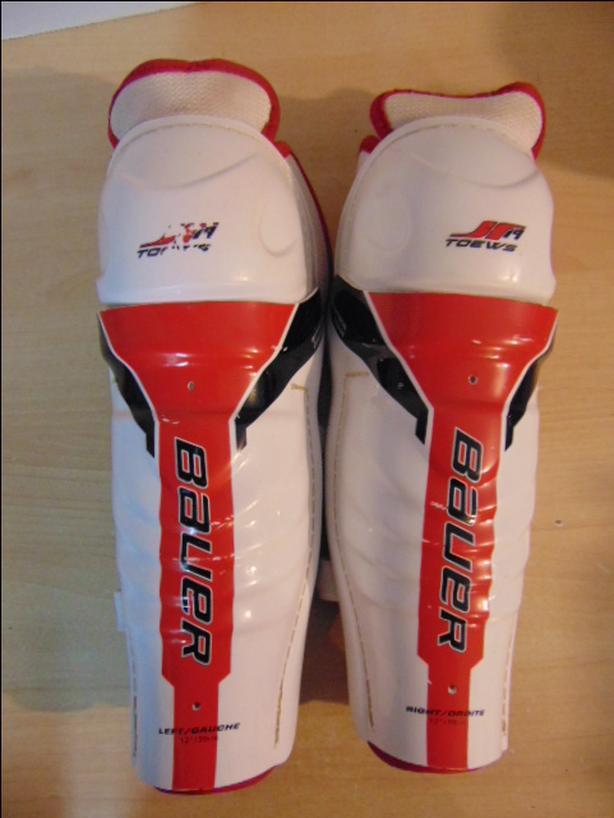 Hockey Shin Pad Child Size 12 inch Bauer Asymmetrical Design Wrap Around Calf