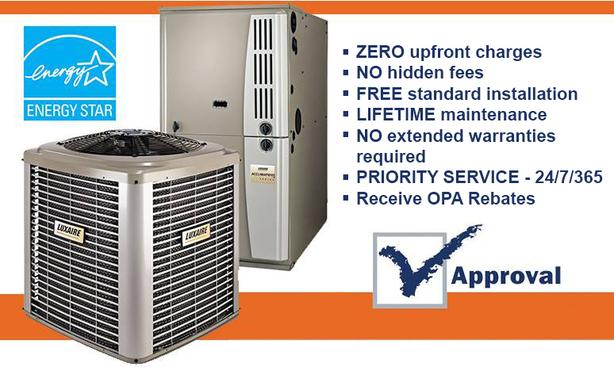 Furnace- AC - Rent to Own - Approval Guaranteed - Call Now