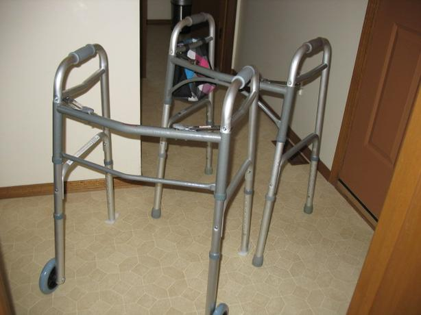 """2 """"LIKE NEW"""" QUALITY FOLDING WALKERS FOR SALE"""