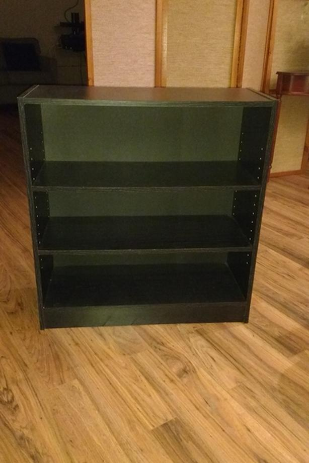 Black Faux Wood Bookshelf