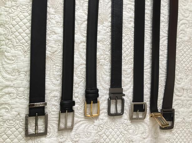 Men's Leather Belts for Formal or Casual Wear - $5 each