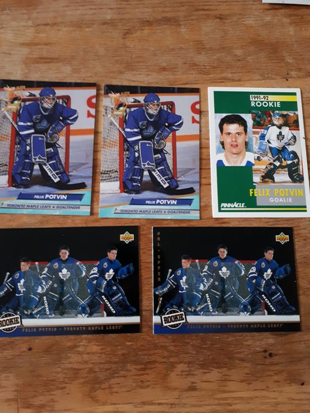 Felix Potvin Rookie Hockey Cards (Toronto Maple Leafs)