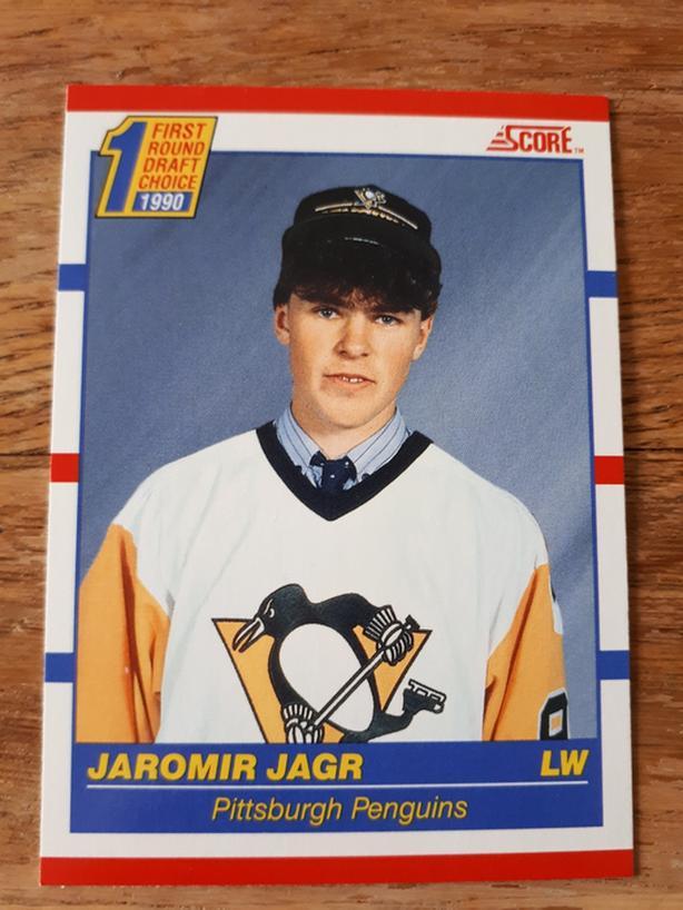 Jaromir Jagr Rookie Hockey Card (Pittsburgh Penguins)