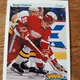 Sergei Fedorov Rookie Hockey Cards (Detroit Red Wings)