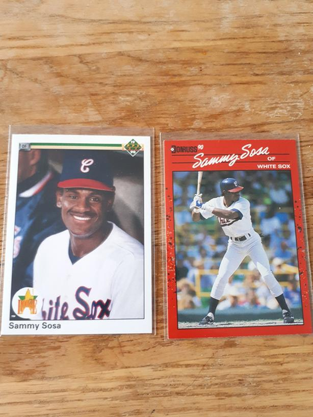 Sammy Sosa Rookie Baseball Cards (Chicago White Sox)