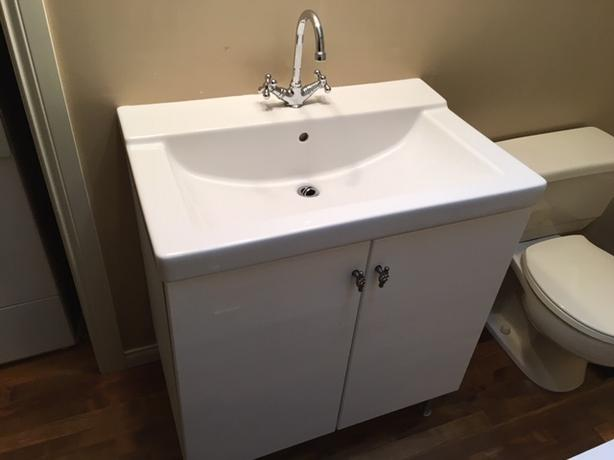 VANITY (CABINET AND SINK BASIN AND FAUCET)
