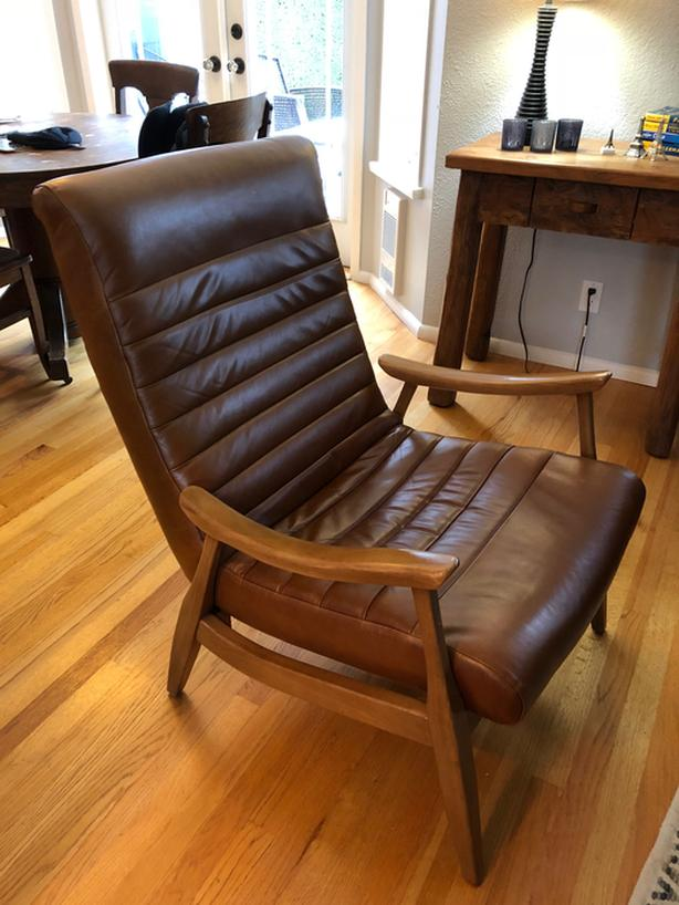 Incredible Log In Needed 650 Leather Accent Chair Like New Bralicious Painted Fabric Chair Ideas Braliciousco