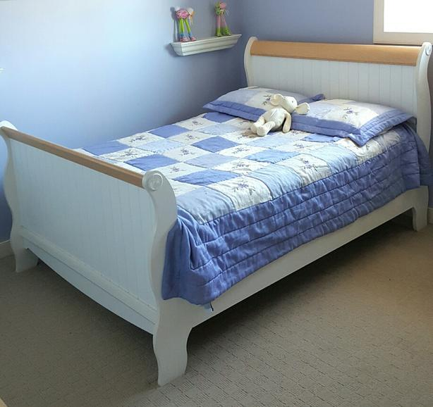 Double Bed - Frame, Head/Foot Board, Box Spring, Mattress, Cover