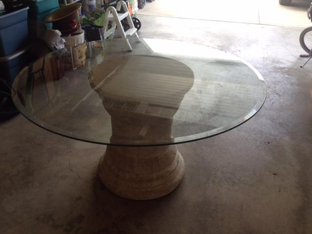Artistic Round Glass Table