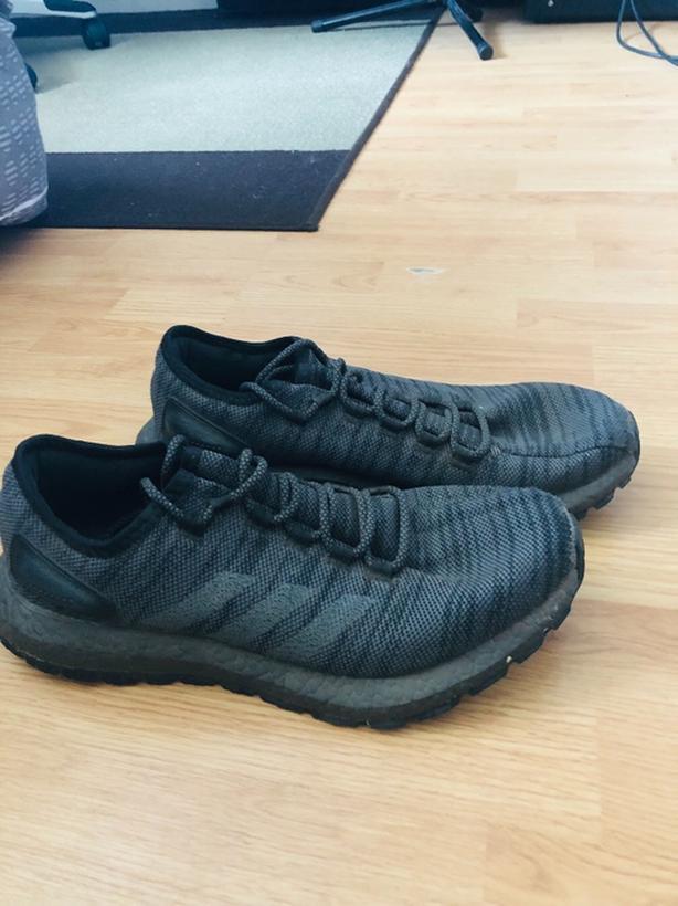 b748de62c0f71 Adidas Pure Boost Triple Black Size 10M Central Saanich
