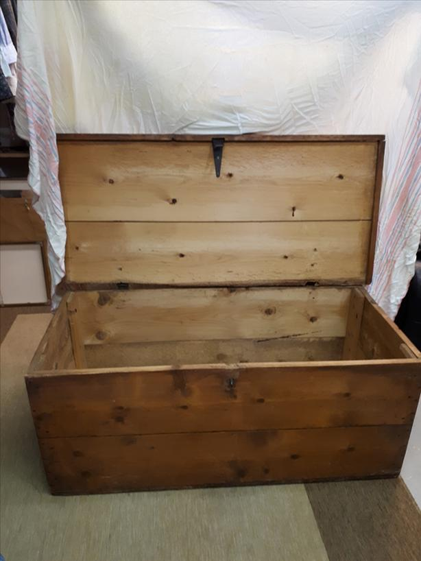 1940's antique pine blanket box