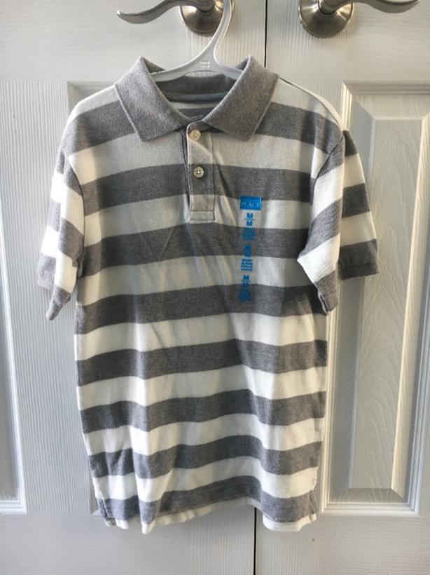 Boys Short Sleeve, Polor Shirt, Size M (7/8)