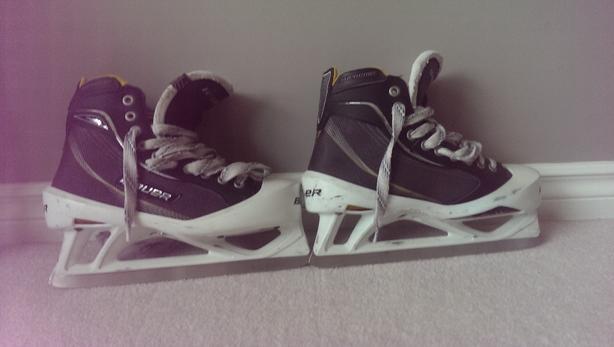Bauer One80 goalie skates size 7.5 shoe size 9