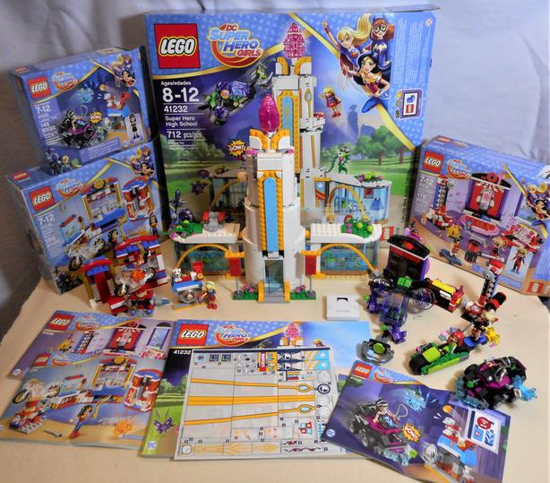 A Lot of Legos - The Super Hero Girls High and 3 More Related Sets