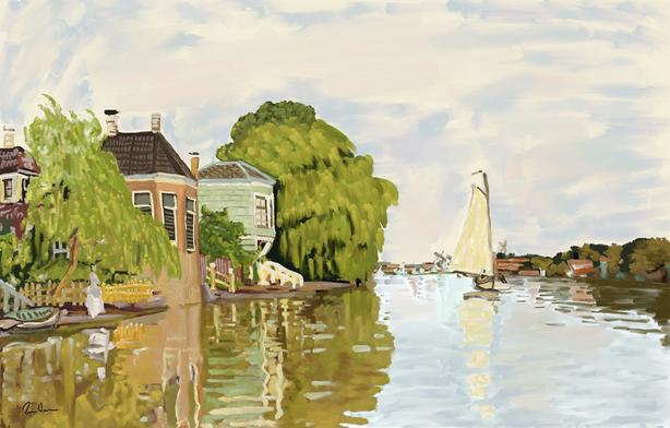 """""""Houses on the Achterzaan"""" - Limited Edition of only 25."""