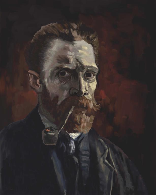 """""""Vincent with Pipe"""" - Limited Edition of only 25."""