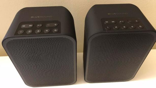 Pair (2) of BlueSound FLEX Wireless Multi-Room Speakers + 2 Battery pack