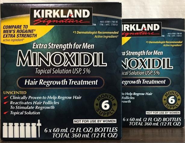 Kirkland brand Minoxidil 5% hair re growth