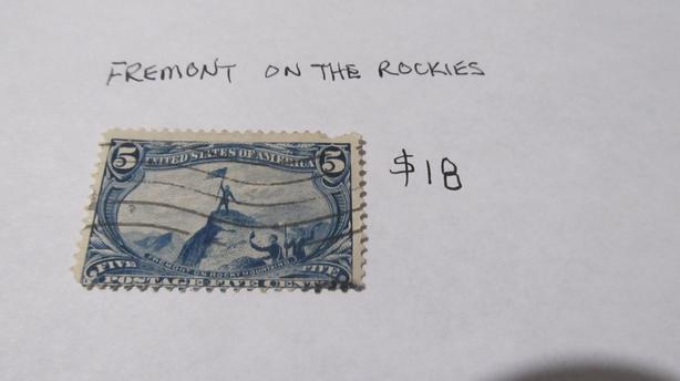 RARE US FREMONT AT THE ROCKIES STAMP