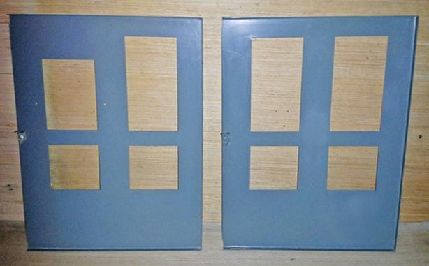 AEC 100-125 Amp Fuse Box Inside Panelboard Covers ~ Rare!