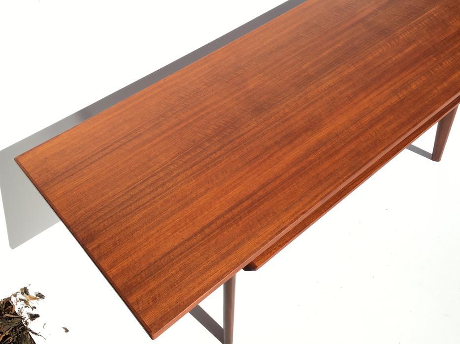1960s Danish Teak Coffee Table w Lower Shelf + Drawers Oak ...
