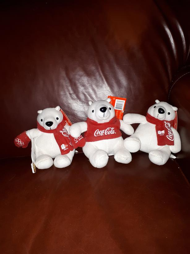Coca-Cola Vancouver 2010 Winter Olympics 3 Polar Bears Excellent  Condition