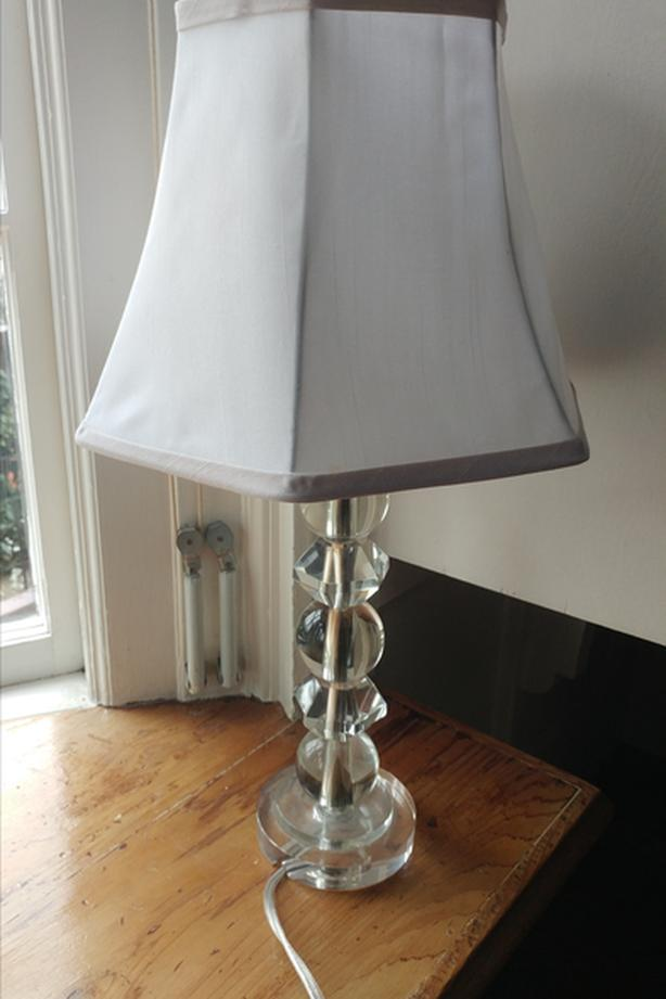 Crystal Glass Table Lamp with a shade