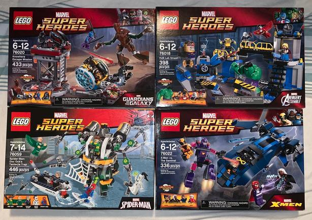 Retired Lego Marvel Super Hero Sets - BNIB