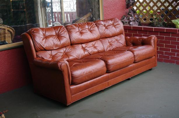 Marvelous Genuine Bargain Leather Sofa From Hickory North Carolina Pabps2019 Chair Design Images Pabps2019Com