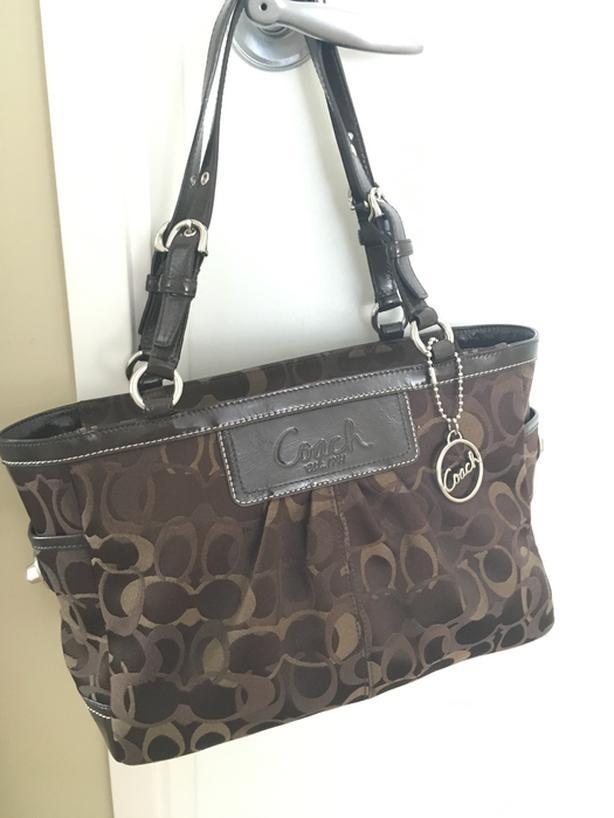 3703caf9d1f66 Coach Monogram Handbag in Dark Brown North Saanich & Sidney , Victoria