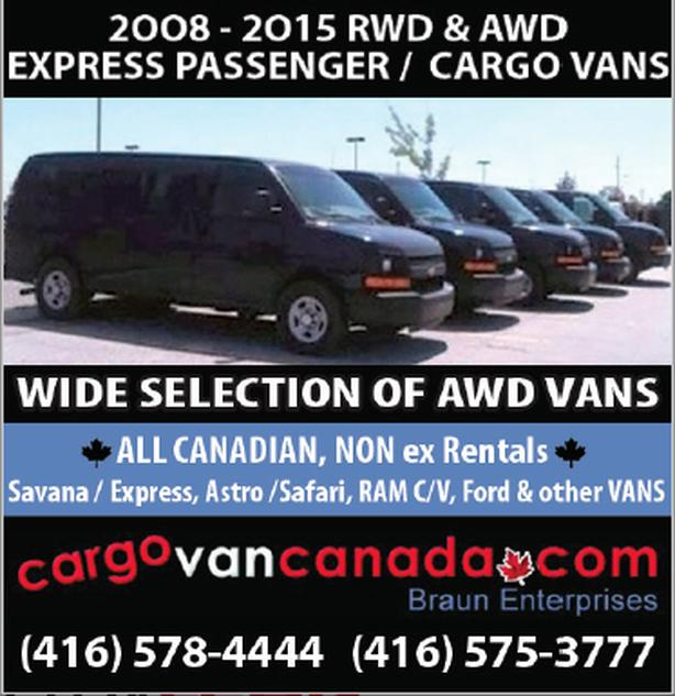 12 PASSENGER * 8 & 15* 2O15-2008 *AWD TOO* Express/ Savana /Ford/RAM & CARGO