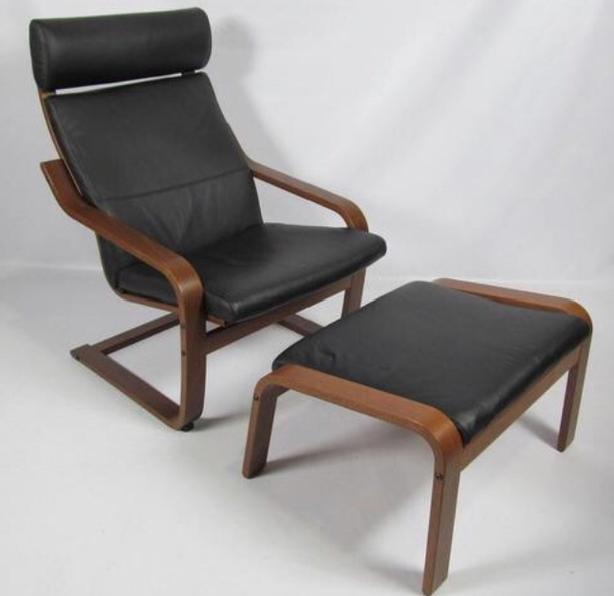 Fabulous Log In Needed 200 Reduced Ikea Black Leather Poang Chair And Footstool Machost Co Dining Chair Design Ideas Machostcouk