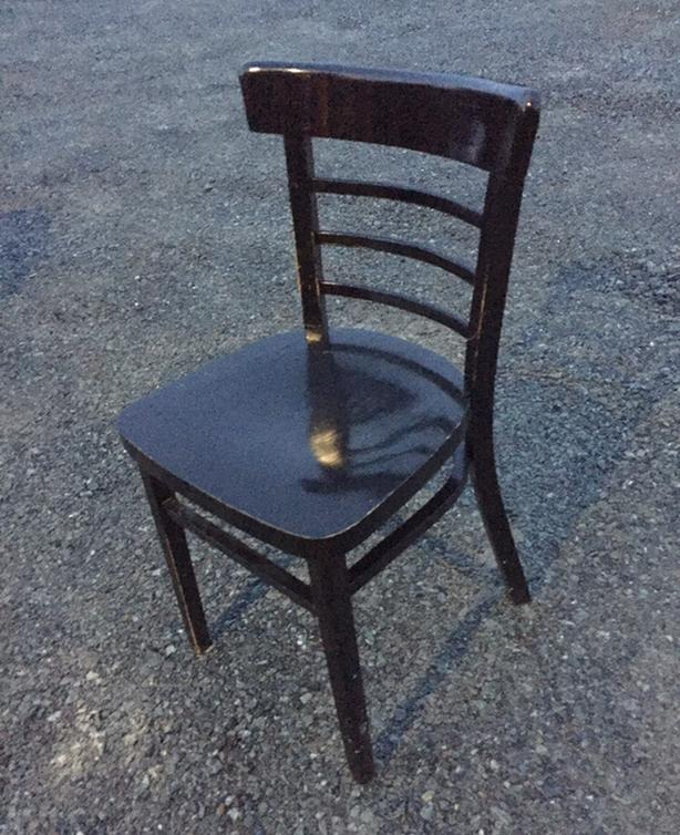 Black dining room chair.  One left -