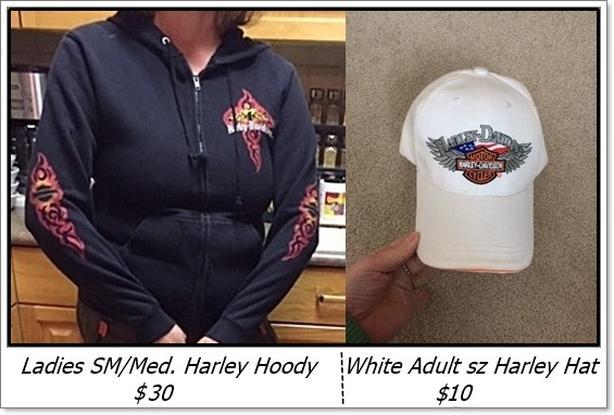Ladies Harley Davidson Hoody Sm / Med & White Harley Hat