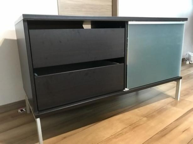 Ikea TOBO TV Bench Stand - Black-Brown