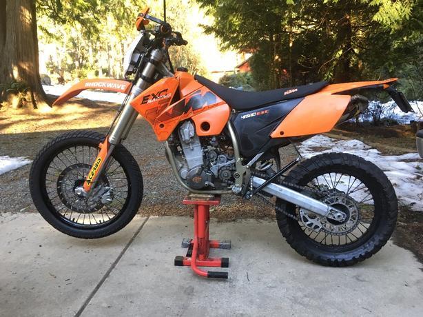 REDUCED 2004 KTM 450 EXC