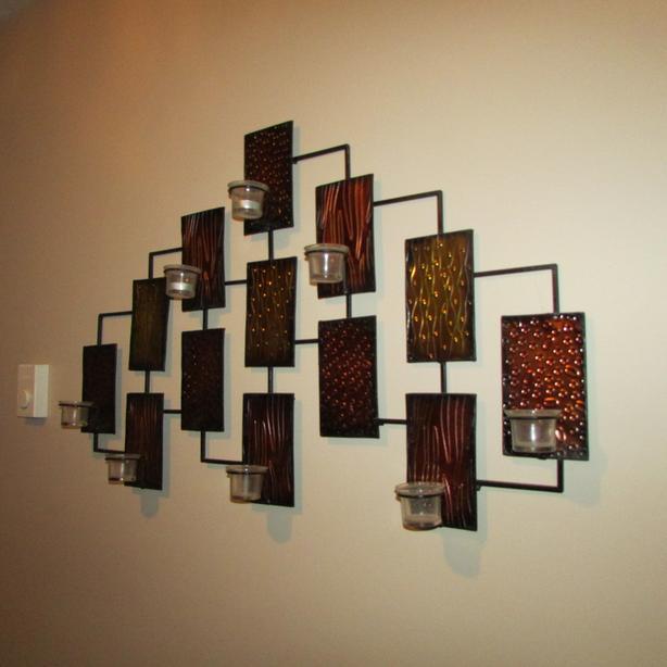 ,candle,hallway flower metal art