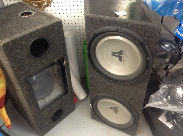 BOOM BOXES SPEAKERS TWO USED  $225 EACH.