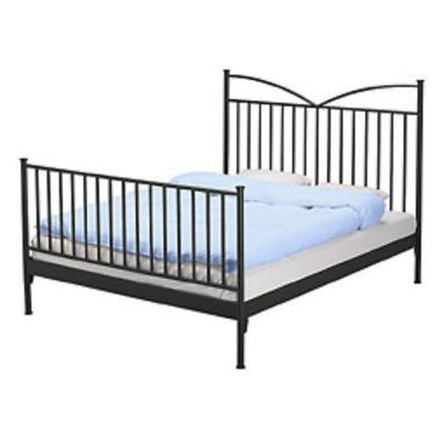 $260 · Ikea HALDEN Bed Frame - Black - Full Double