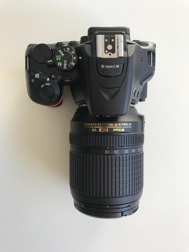 Nikon D5500 with 18-140mm F/3.5-5.6G lens and accessories