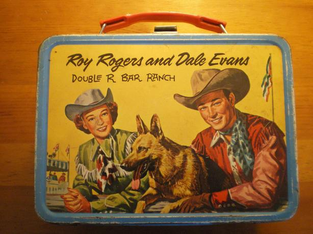 1950's Roy Rogers and Dale Evans Double R Bar Ranch Lunchbox (no thermos)