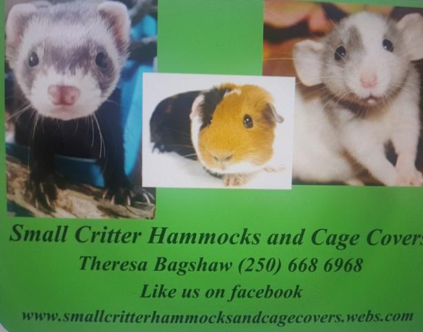 Small Critter Hammocks and Cage Covers