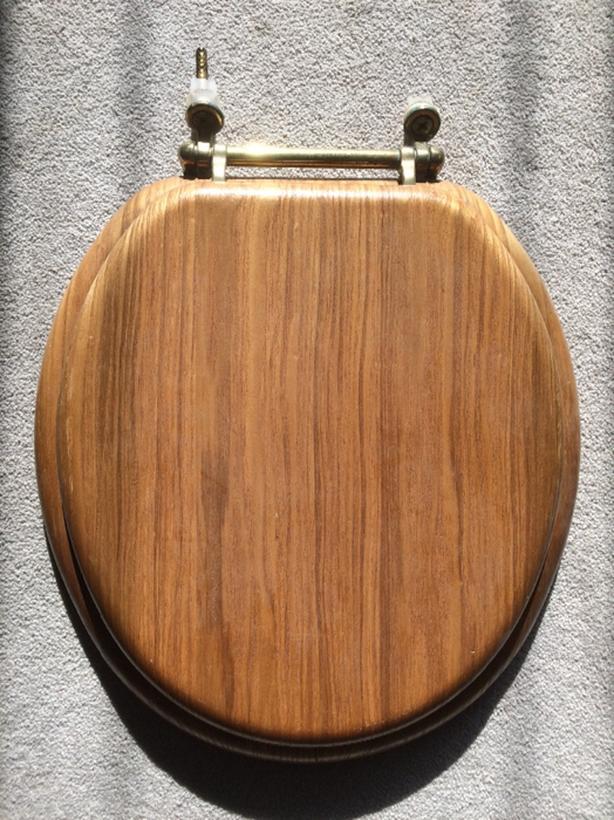 FREE: wooden toliet seat