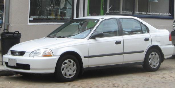 1996 White Honda Civic Stolen