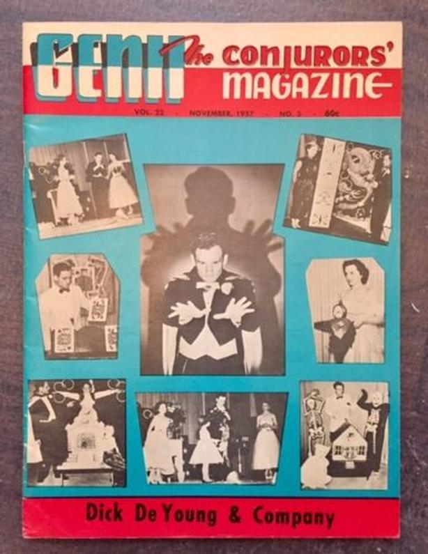 November 1957 Genii Magazine Magic Tricks Vol. 22 No. 3 - magicians