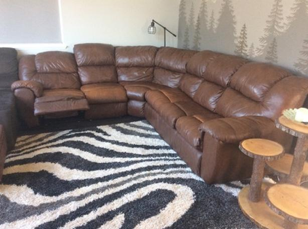 Comfortable Sectional Sofa Bed with hide-a-bed and recliner ...